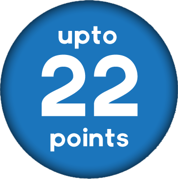 Up to 22 Points