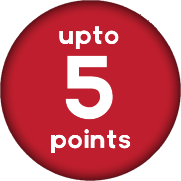 Up to 5 Points